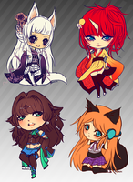 Chibi Commission batch by Keimichi