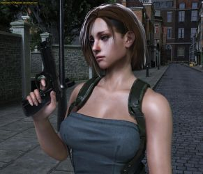 Jill Valentine-Casual Portrait (RE3) by Nabriales-D-Majestic