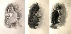 Quick portrait studies by 7AirGoddess3