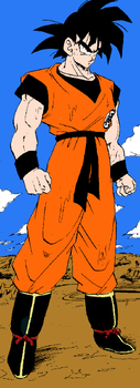 Goku - Manga Scan - Colored by the-heartagram