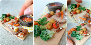 Miniature food : Let the vegetable soup ! by Valentina-PinkCute