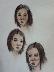 triple portrait by Birth-of-octopuses