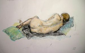 Life drawing, pastel by ellie-lucy