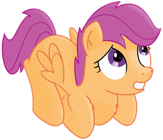 Scootaloo's scared look by transparentpony