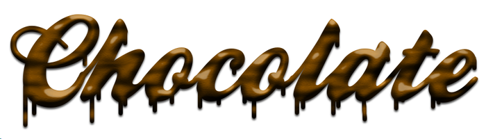 Melting chocolate text by Chrisdesign