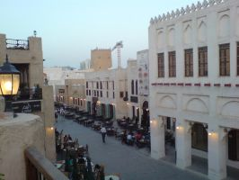 Doha Souq Thoroughfare by Arcturion