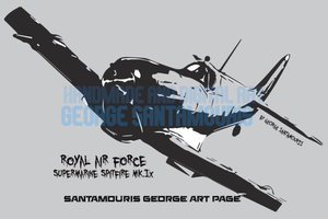Spitfire Supermarine Mk.Ix Poster Art by SANTAMOURIS1978