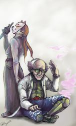 Tekken Tag 2 Kunimitsu and Dr B by Marto