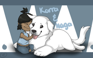 Your best friend is a Polarbear Dog by Tinnypants