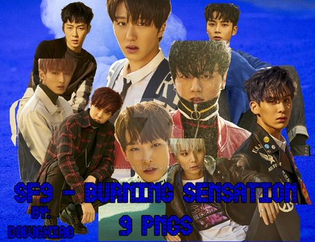 SF9 - BURNING SENSATION | 9 PNGS by dowgxiao