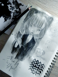 Sketching the Twin Peaks by willymerry