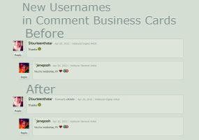 New Usernames in Comment Business Cards by admx