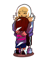 Sans And Frisk by narvmi