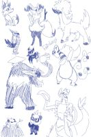 New Pokemon Sketches by KitHasArt