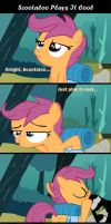 Scootaloo Plays It Cool by TheMAM