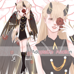 |auction-closed| Demoness of dead roses by Yuko-n