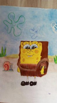 Cosplay monalisa spongebob by katsteve