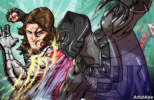 Black Panther VS Winter Soldier by ArtistAbe