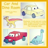 Car and Dino Room by TerrifyingLint