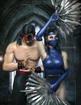 Liu x Kitana -MK- Klassic by DemonLeon3D