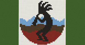 Native American Pixel Art: Kokopelli by Nonamewayward