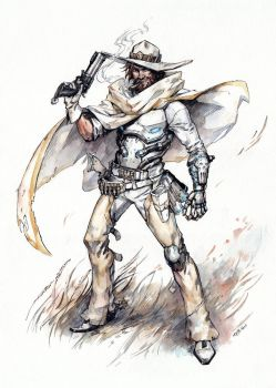Commission Overwatch Fanart McCree by Kutty-Sark