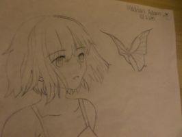 Girl with buttfly by Madakoawalrus1