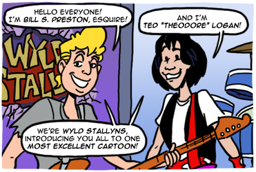 Bill and Ted's Excellent Cartoon by theEyZmaster