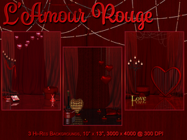 BG Mini Pack - L'Amour Rouge by poserfan-stock