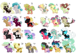 MLP Bundle of Ponies adopts 17/24 open by Anonymous1197