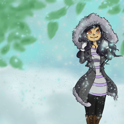 Aphmau in the Snow by leafpoolTC