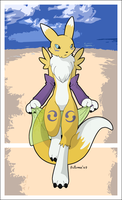 Renamon pareo by AutumnDeer