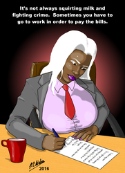 Lactation Lass at Work by Afrodisium