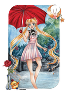 Usagi -  Walking in the rain by Mana-Kyusai