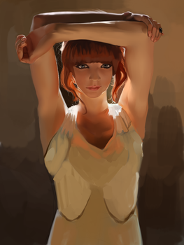 Lighting study (and also skin) by Meepars