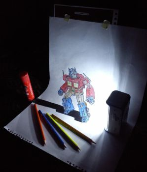 3D Optimus Prime by artgel
