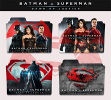 Batman v Superman Dawn of Justice 2016 Folder Icon by sonerbyzt