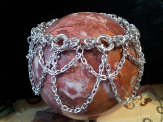 Chain Drape Mozantine Anklet by BacktoEarthCreations