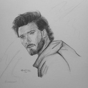 Pencil Portrait - Luis Dagostino by LizzVisions