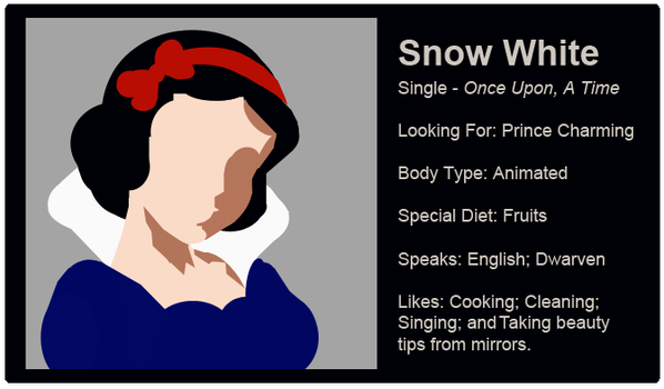 Dating Fictions - Snow White by TheNYRD