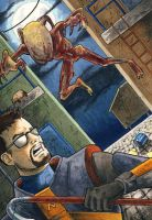 Gordon Freeman vs Zombie ATC by Psamophis