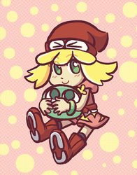 Amitie with Puyo. by taeshilh
