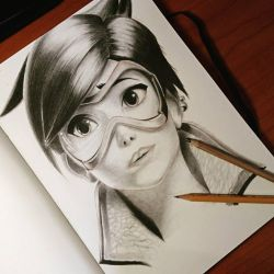 Tracer from Overwatch  by ThomasArt98