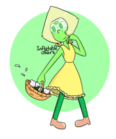 Peridot In A Yellow Dress by Inflatablechairs