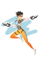 Tracer-Overwatch by SupaSmashSketcher