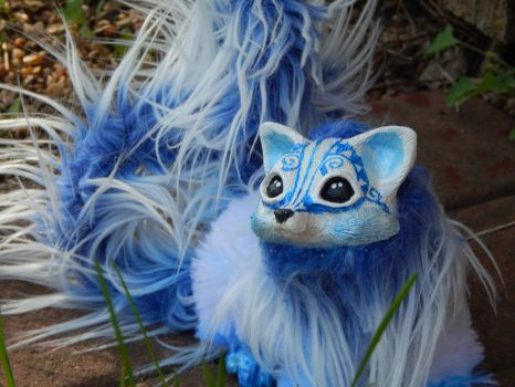 Arctic Kitsune Fox Art Doll by DLChart