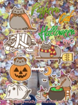 pikaian 9 0 pusheen cat halloween png by infinitywady