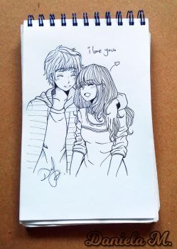 Couple - Inked by ilovetheanime