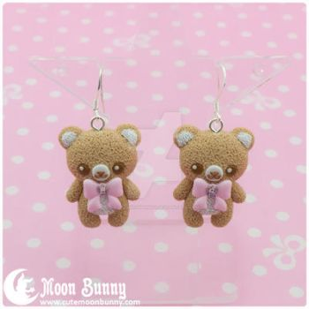 Pastel ice cream bears Earrings 4 by CuteMoonbunny