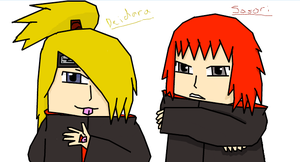Crappy Sasori and Dei pic XD by CongotehJackal